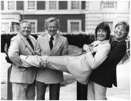 With Harry Secombe, Bert Weedon and Vince Hill.