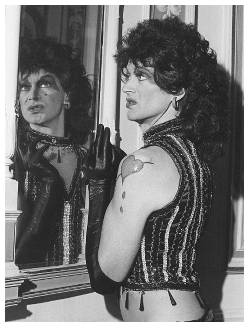 "Bobby as Dr Frank N.Furter in ""The Rocky Horror Show""."